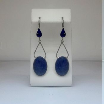 Traditional Tribal Lapis Earrings